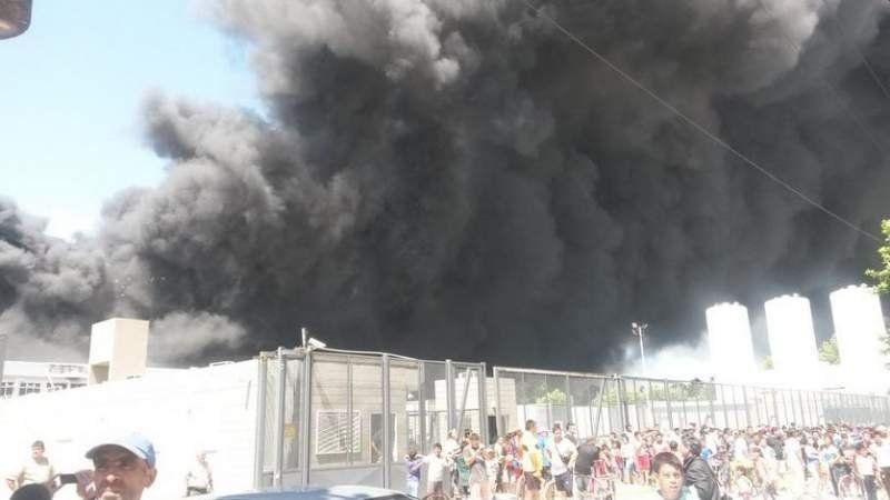 Incendio en un depósito de 9 de Abril