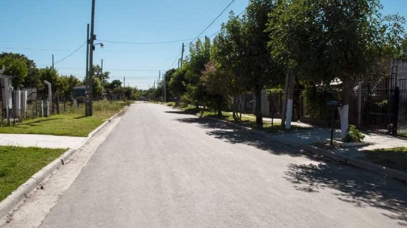 Realizaron una nueva red vial y desagües pluviales en El Jagüel