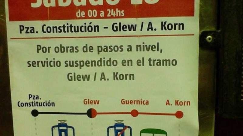 Restringen los servicios del tren Roca a Alejandro Korn