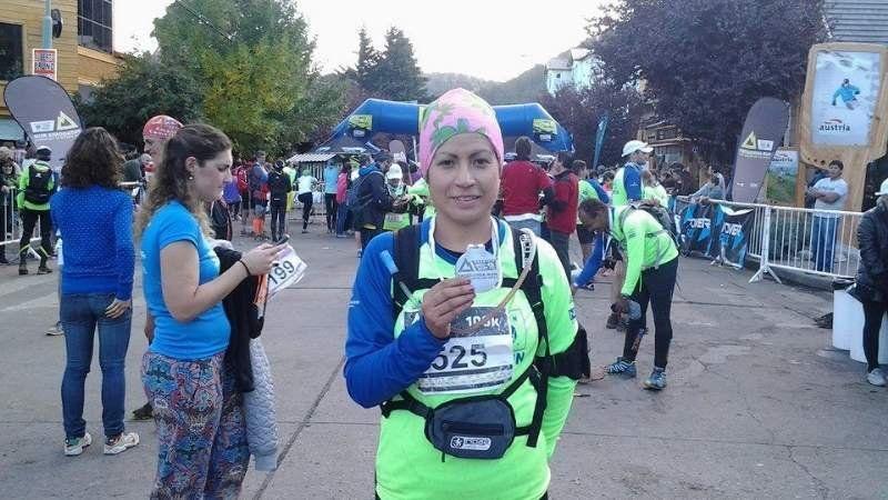 Carmen Alegre finalizó la competencia Patagonia Run