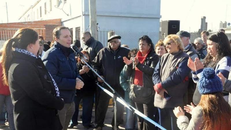 Inauguración de las obras en el Barrio Plan Federal