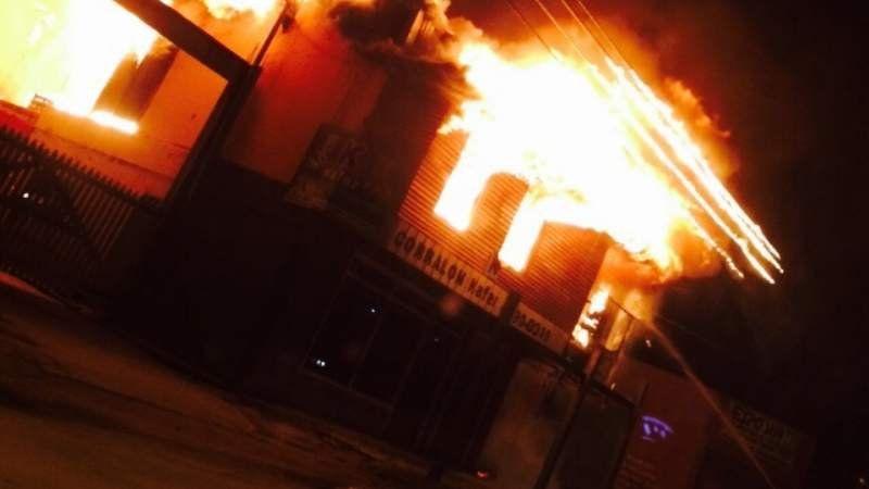 Se incendia un corralón en El Jagüel