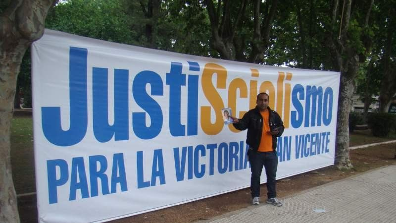 Las campañas de Scioli y de Macri en San Vicente