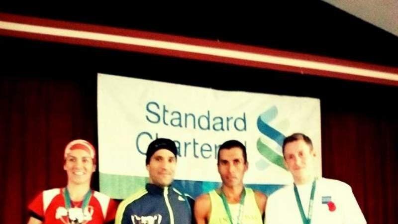 Mourelle se metió en el podio del maratón de las Malvinas