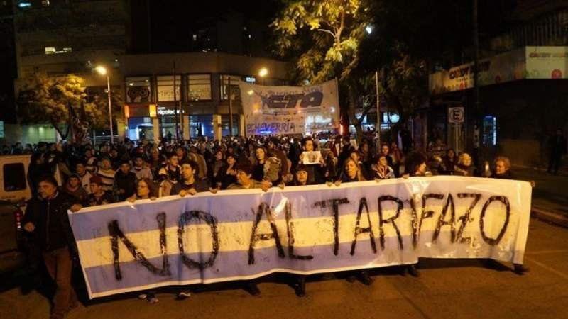 Ayer se realizó la protesta contra los tarifazos