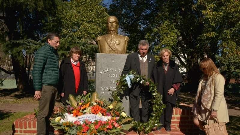 Actos por el aniversario de la muerte del General San Martín
