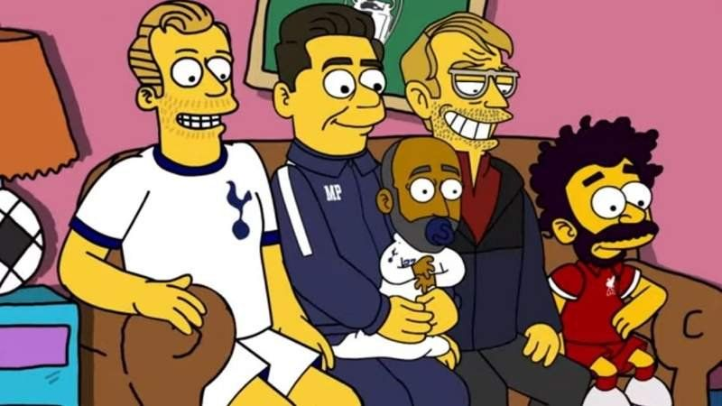 Viral: Los simpsons también juegan la final de la Champions League