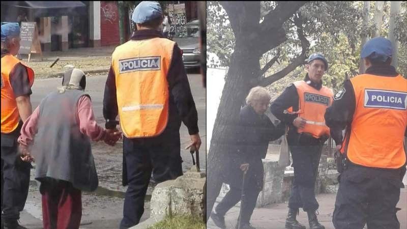 Viral: El noble gesto de dos policías de Burzaco con los adultos mayores