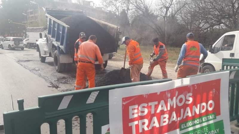 Corte en la Ruta 58 por obras de bacheo