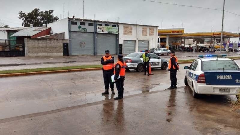 Importante despliegue policial en San Vicente con varias fuerzas