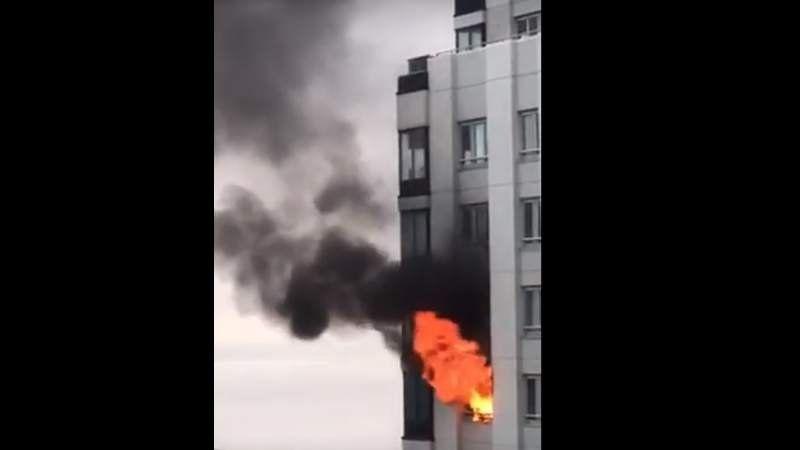 Se incendió uno de los edificios más altos de Puerto Madero