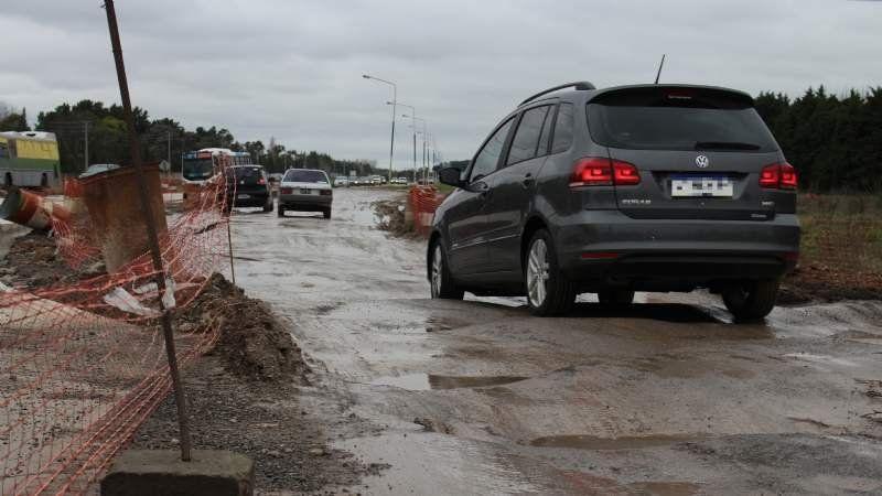 Una zona de la Ruta 58 quedó intransitable luego de las lluvias