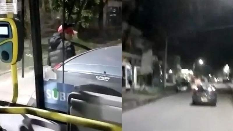 Video: conductor enojado rompió colectivo a las piñas y patadas