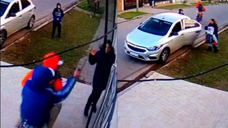 Video: Le robaron el auto y casi se llevan a su bebé