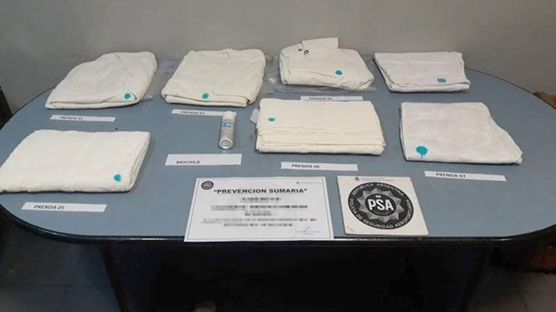 Detuvieron a un nigeriano con ocho kilos de cocaína en Ezeiza