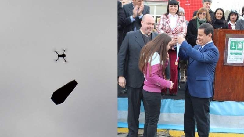 Un drone con un ataúd fue repudiado en el desfile del 9 de Julio en Korn