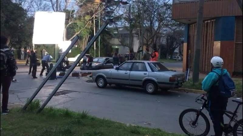 ¿Cuál es la mega serie televisiva que estaban grabando ayer en el centro de Lomas?