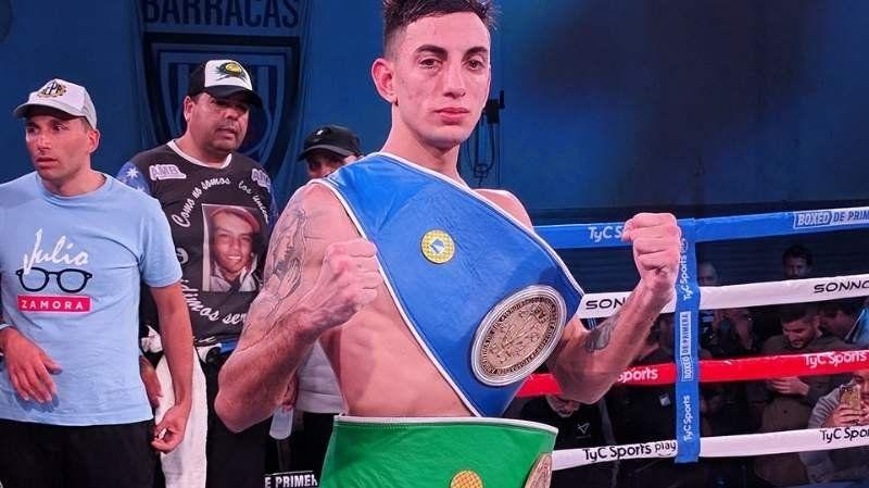 Yiyo Baldor es el nuevo campeón Sudamericano de boxeo