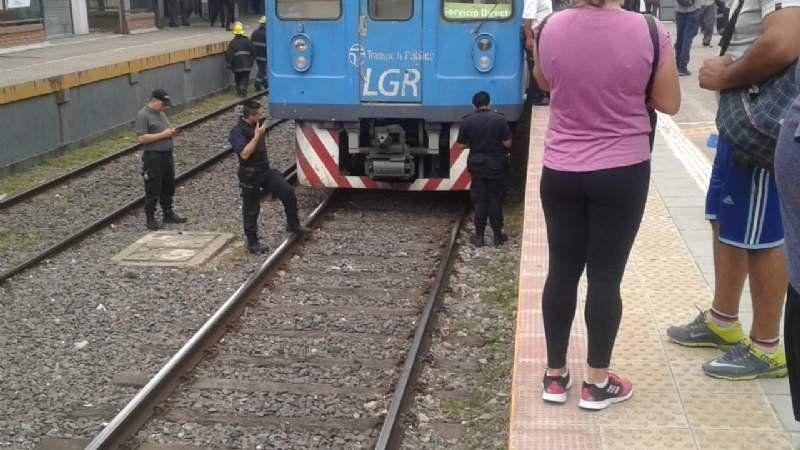 Trenes limitados por un accidente en Monte Grande