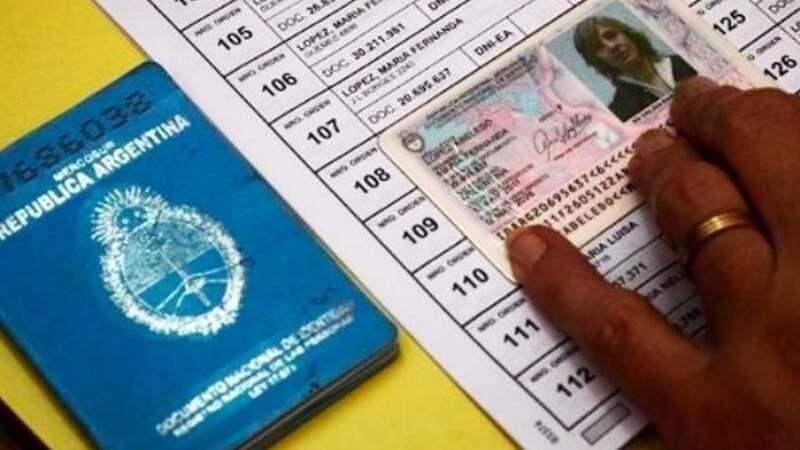 Qué documentos están habilitados para votar el domingo
