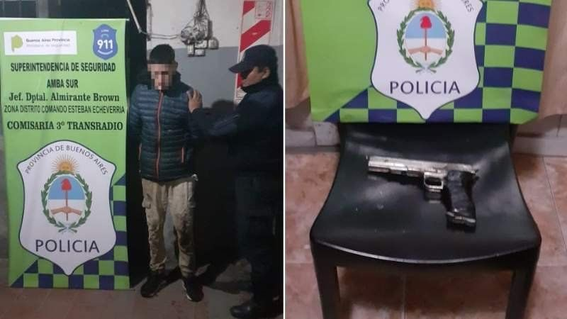 Robo, fuga y detención: tenía un arma de juguete