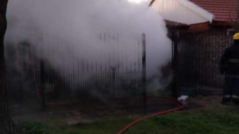 Longchamps: Desgarrador incendio en una vivienda