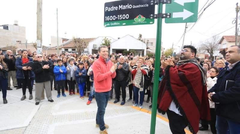 Inauguraron la calle Padre Mario Quadraccia