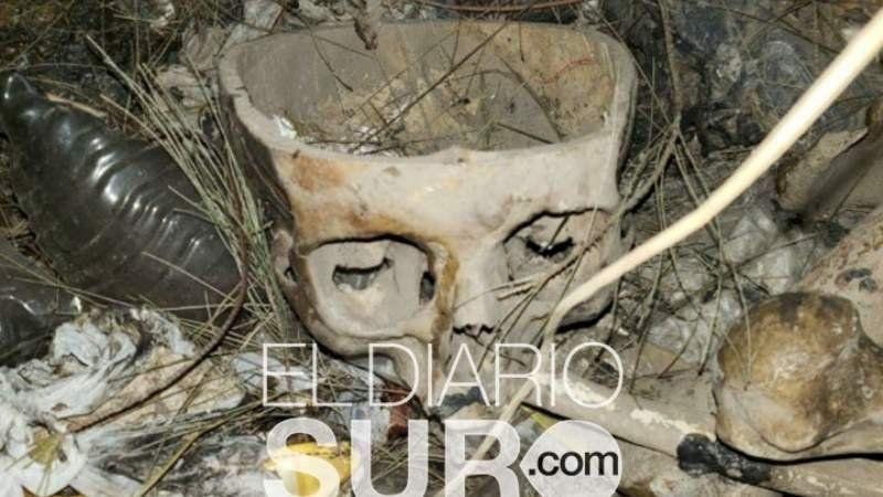 Encontraron restos humanos en Camino de Cintura