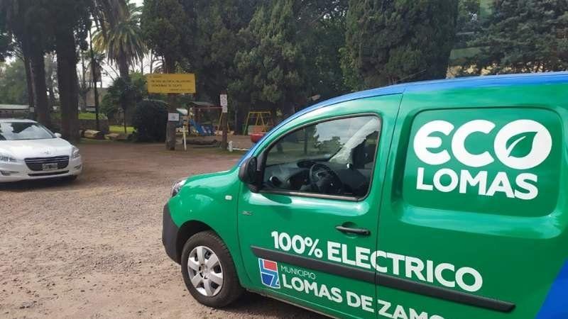 Eco Lomas: el municipio incorporó dos camionetas 100% eléctricas