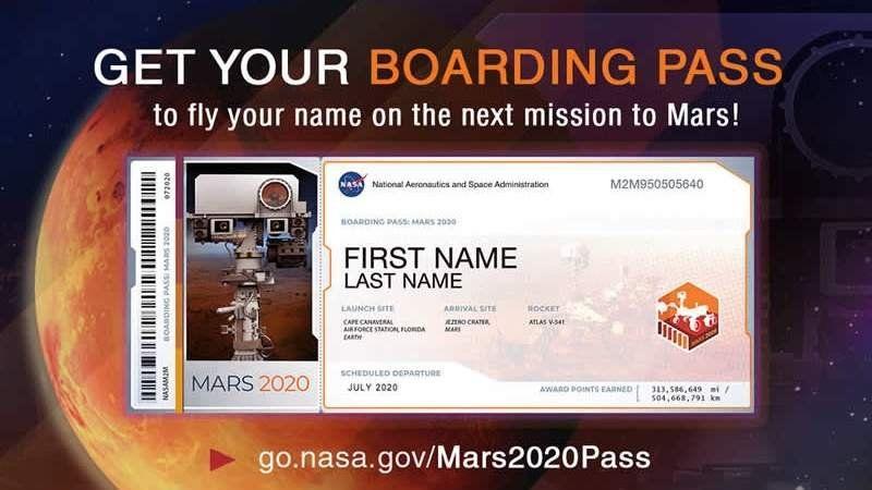 Últimos días para mandar tu nombre a Marte con la próxima misión de la NASA
