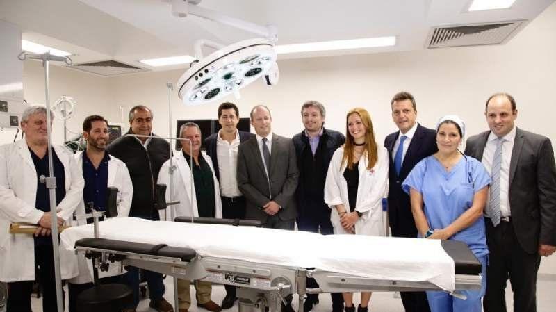 Con Massa y Máximo K, Insaurralde inauguró la última etapa del Hospital de Llavallol