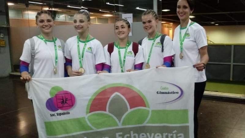 Gimnastas de Esteban Echeverría salieron campeonas en los Juegos Bonaerenses