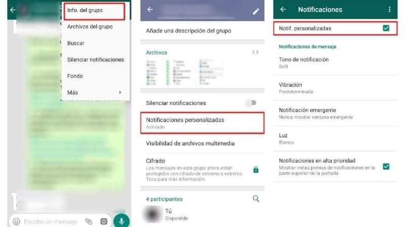 WhatsApp: cómo poner un sonido a los grupos para evitar desbloquear el teléfono