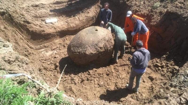 Rescataron los restos del gliptodonte que encontraron en Ezeiza