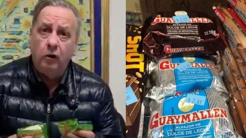 A través de un video, el dueño de Guaymallén se quejó del precio de sus alfajores en Estados Unidos
