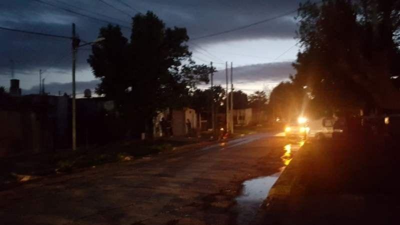 Corte de luz total en San Vicente por un rayo