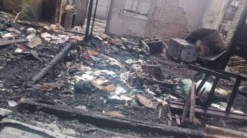 Malvinas Argentinas: Prendió fuego la casa de su ex pareja y casi mata a cuatro nenes