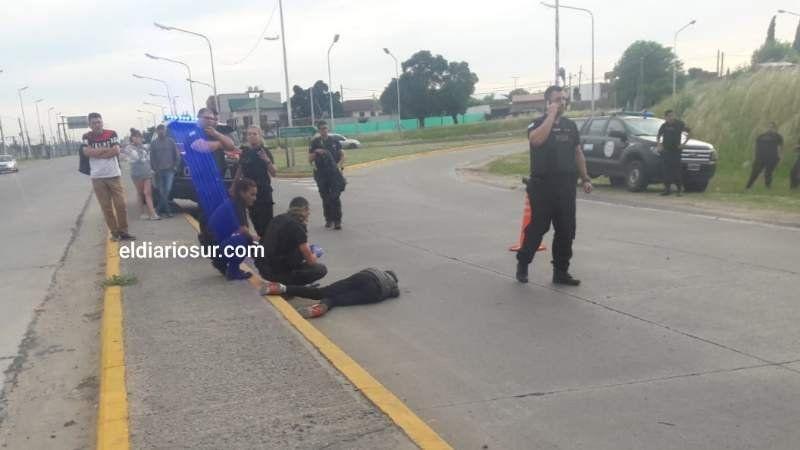 Un oficial del Servicio Penitenciario baleó a un ladrón en la Ruta 205