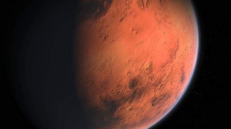 La NASA difundió una imagen de cómo se ve el amanecer en Marte