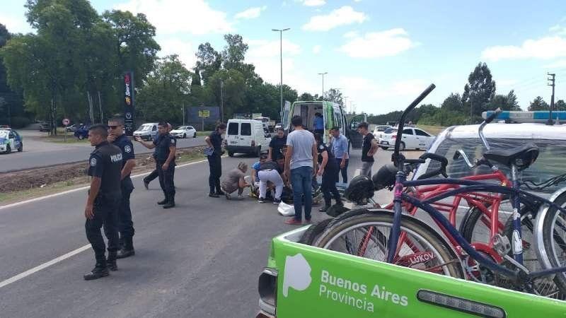 Accidente en la Ruta 58: una mujer atropelló a tres ciclistas