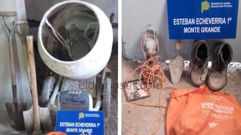 Detienen en Monte Grande a dos albañiles que robaron objetos de trabajo