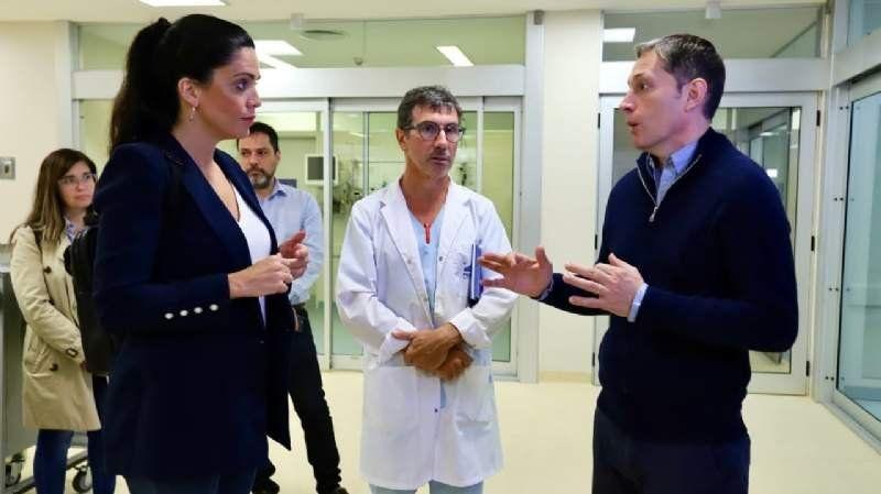 Fernando Gray y la directora del Pami en el Hospital del Bicentenario: Lo vamos a abrir lo antes posible
