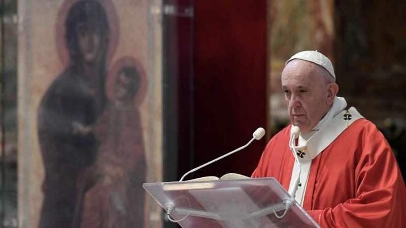 Video: El Papa Francisco dio la misa de Domingo de Ramos vía streaming