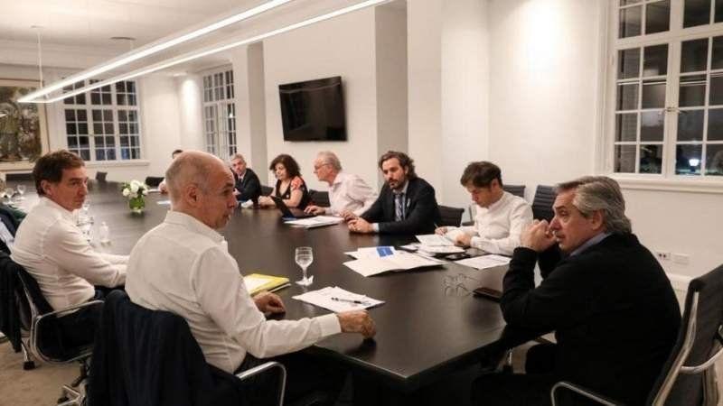 Fernández, Kicillof y Larreta se reunieron para definir cómo seguirá el aislamiento social