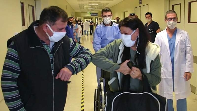VIDEO | Así dejó el Hospital del Bicentenario Francisca, la primera recuperada