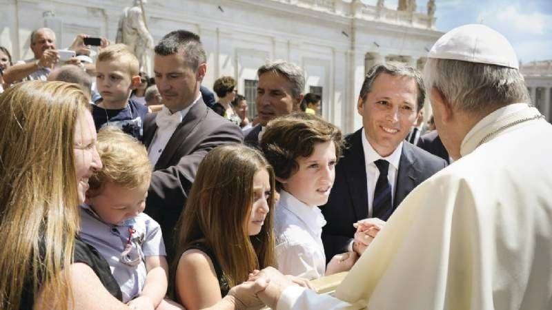 Fernando Gray visitó al Papa Francisco