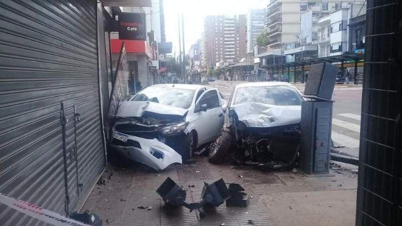 Choque múltiple dejó 4 heridos en Belgrano