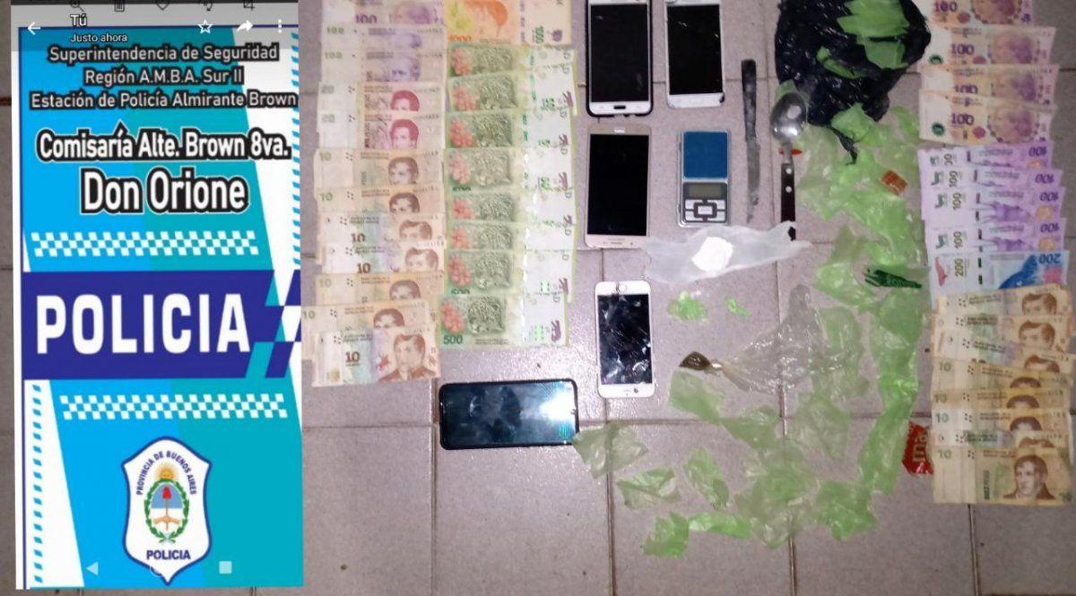 Operativo policial en Don Orione: un detenido con droga