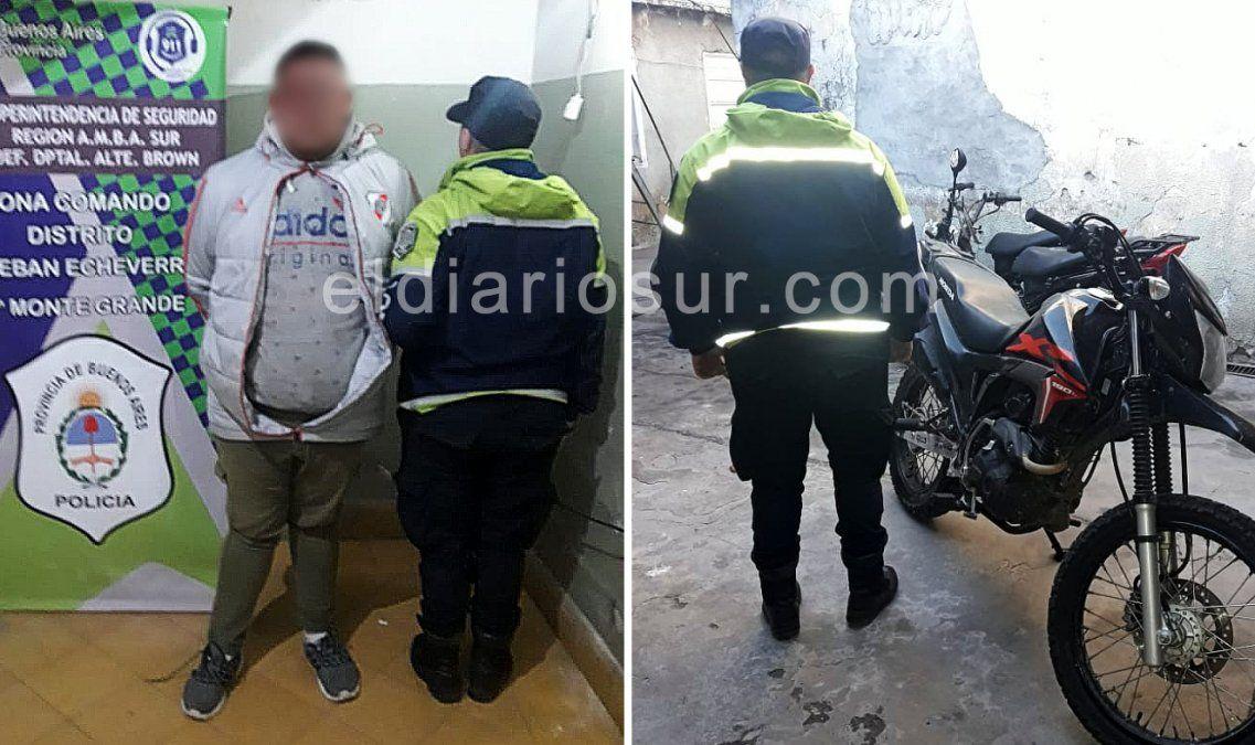 Monte Grande: frustran un robo y detienen a un motochorro