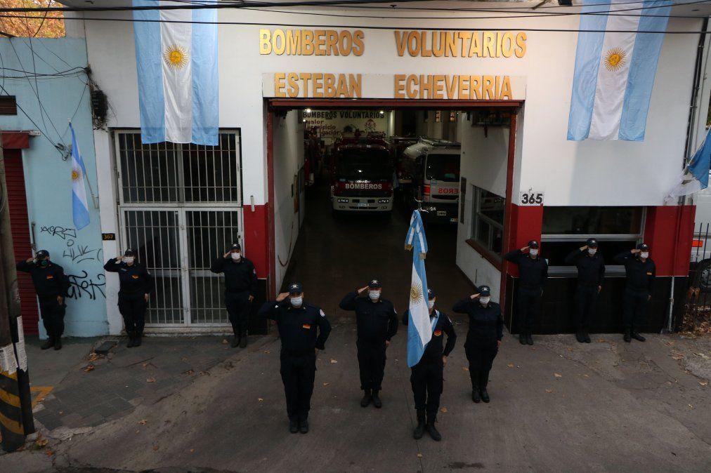 Bomberos Voluntarios de Echeverría celebraron su día